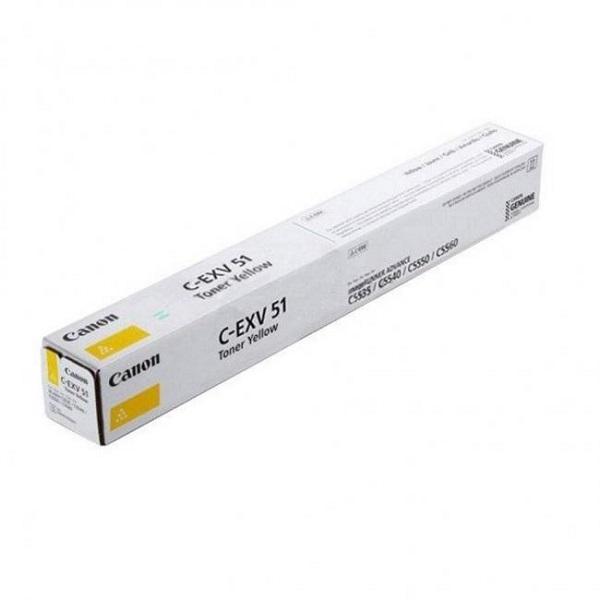 Canon C-EXV 51 Toner - festékkazetta 600K sárga (Yellow), eredeti